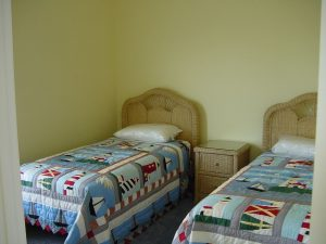 Nice twin beds for the younger ones.